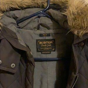 Burton black parka